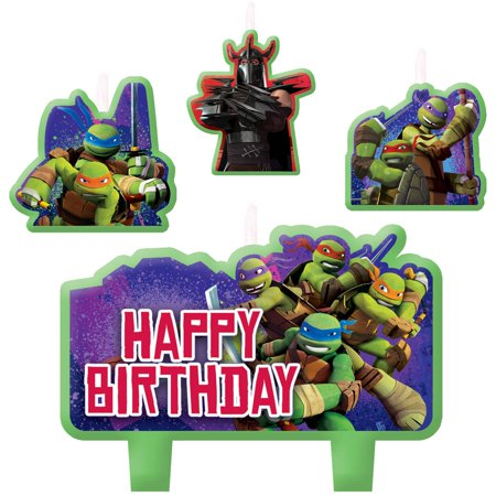 Teenage Mutant Ninja Turtles Birthday Candles, - Tmnt Candles