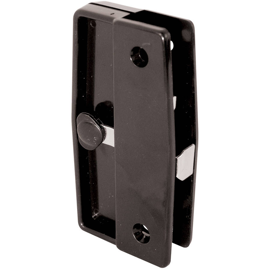 Prime Line A139 Black Plastic Sliding Screen Door Latch & Pull