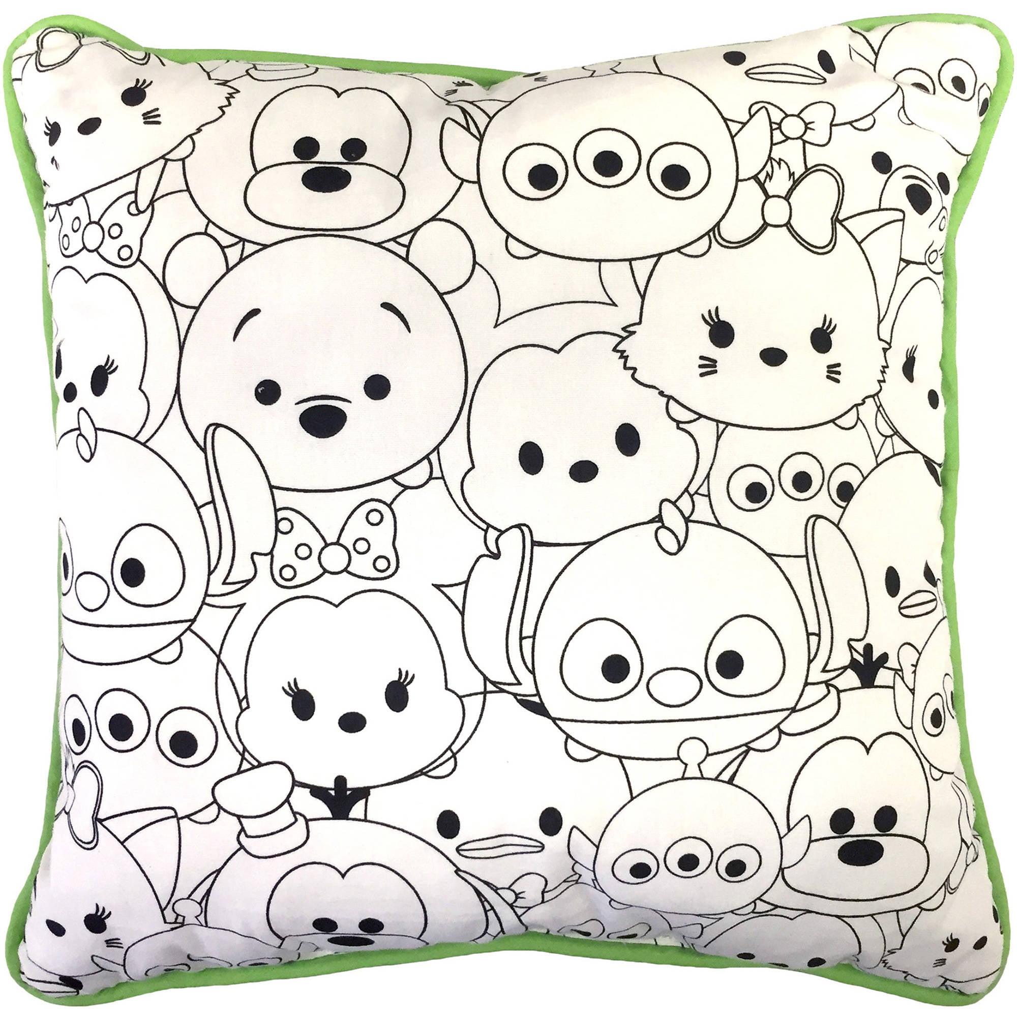 Tsum Tsum All Over Color Me Pillow Walmart Com