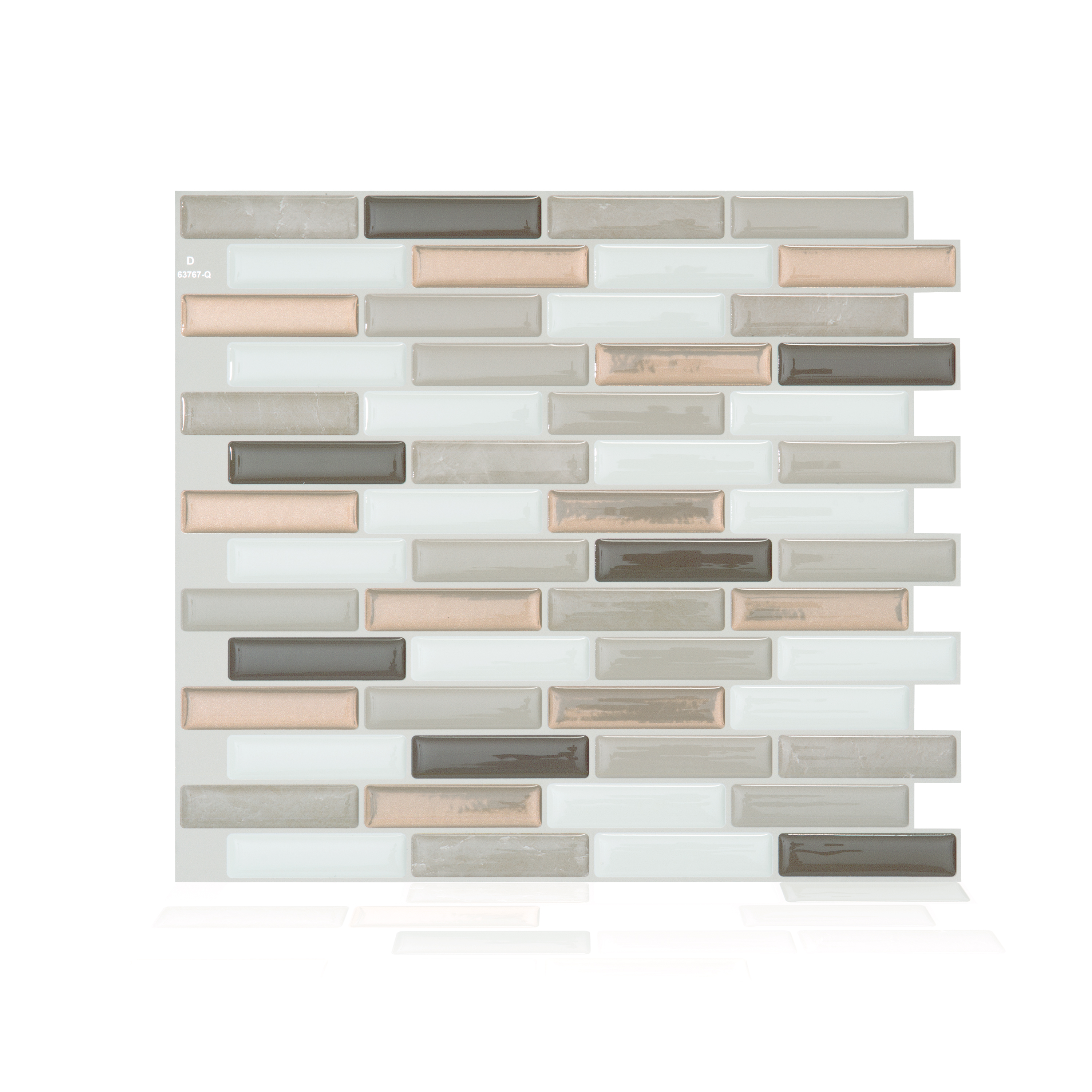 Smart Tiles 10.20 in x 9 in Peel and Stick Self-Adhesive Mosaic Backsplash Wall Tile - Milenza Andrea (each)