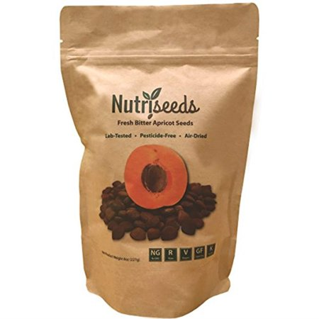 Nutriseeds Fresh Bitter Raw Apricot Seeds | 100% Natural | 8oz Bag