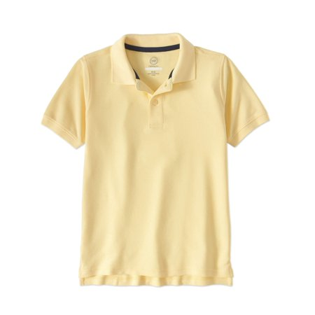 - Boys School Uniform Short Sleeve Double Pique Polo