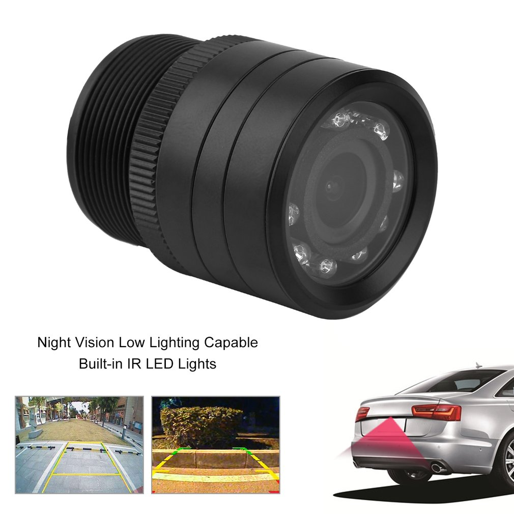Night Vision Infrared CCD Car Rear View Camera Waterproof Parking Assistance LED Camera with Mount