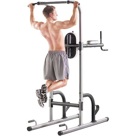 Gold's Gym XR 10 9 Power Tower with Push-Up, Pull-Up & Dip Stations
