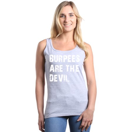 Shop4Ever Women's Burpees Are The Devil Gym Graphic Tank Top