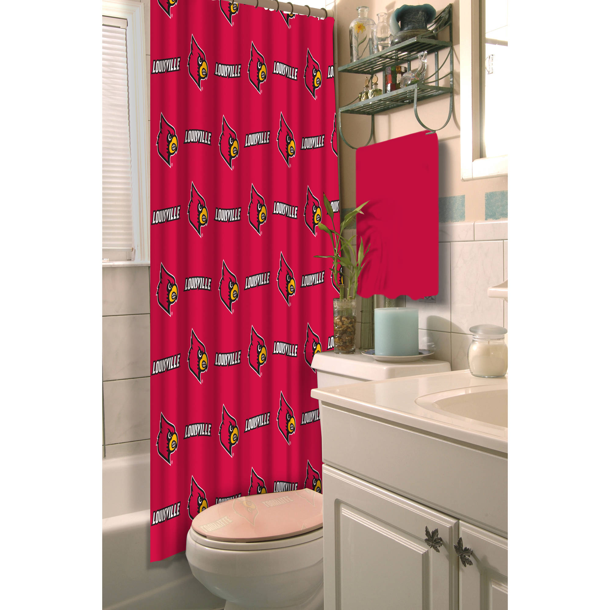 "NCAA Louisville Cardinals 72""x72"" Shower Curtain"