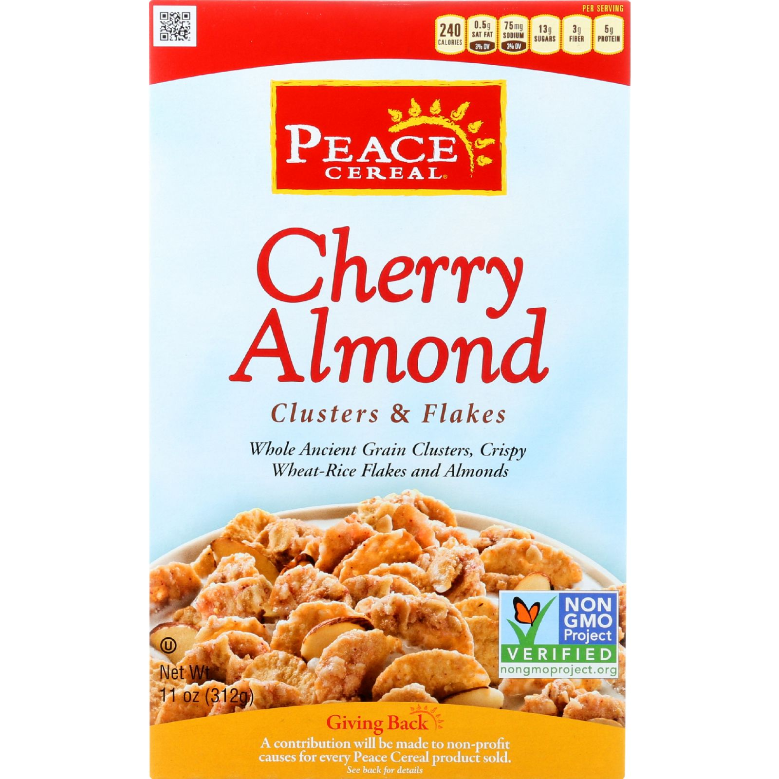 Peace Cereals Cereal Cherry Almond 11 Oz. (Pack of 6)