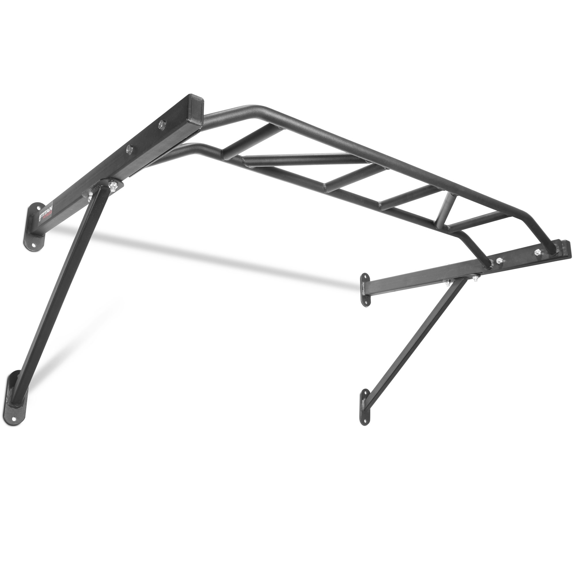 "Titan Fitness HD Multi Grip Wall Mounted Pull Up Bar, Steel, 48""W Grip"