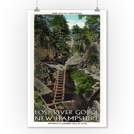 White Mountains, NH - Lost River, View of the Entrance to Judgment Hall of Pluto (9x12 Art Print, Wall Decor Travel