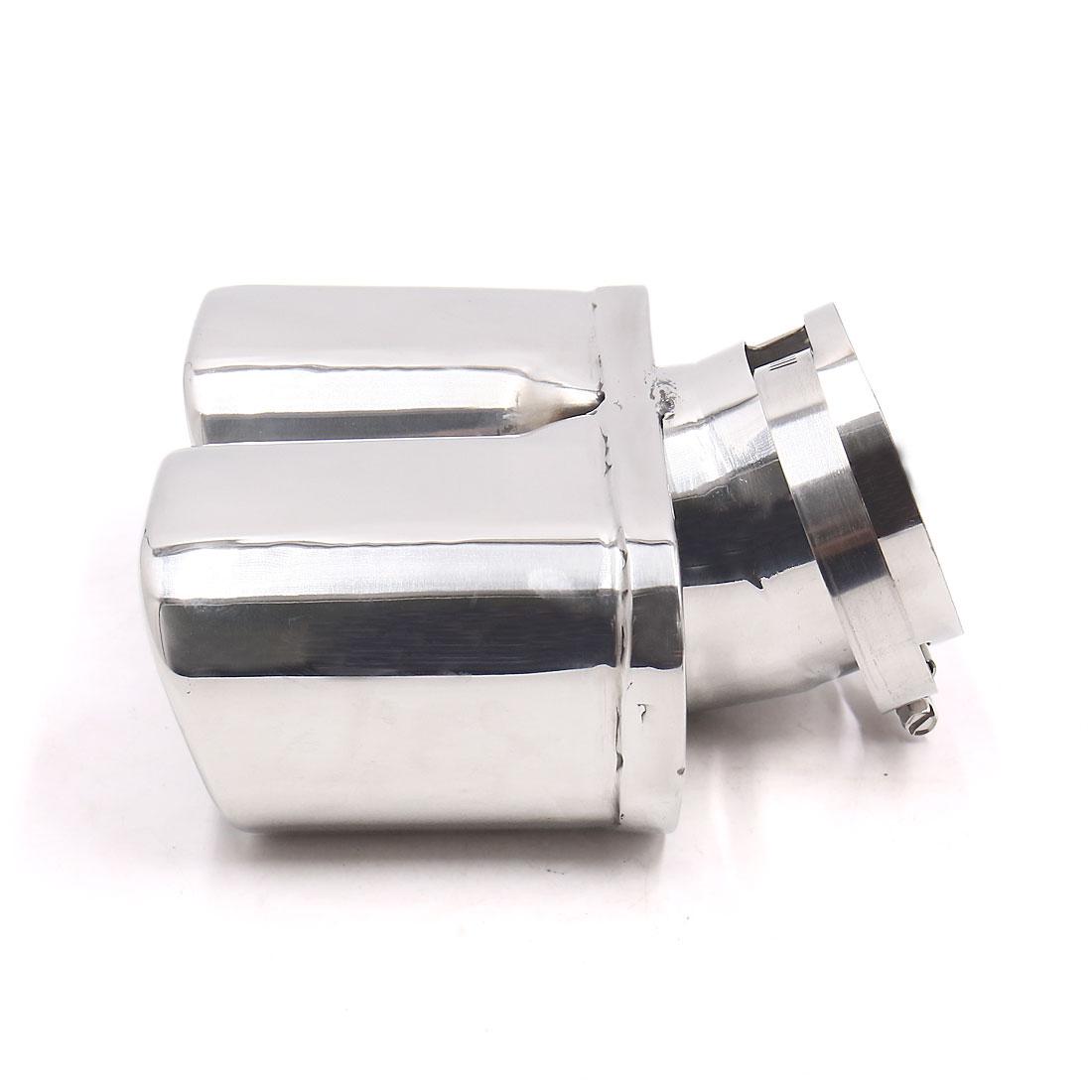 71mm Inlet Inner Diameter Silver Tone Stainless Steel Car Exhaust Pipe Muffler - image 2 de 4