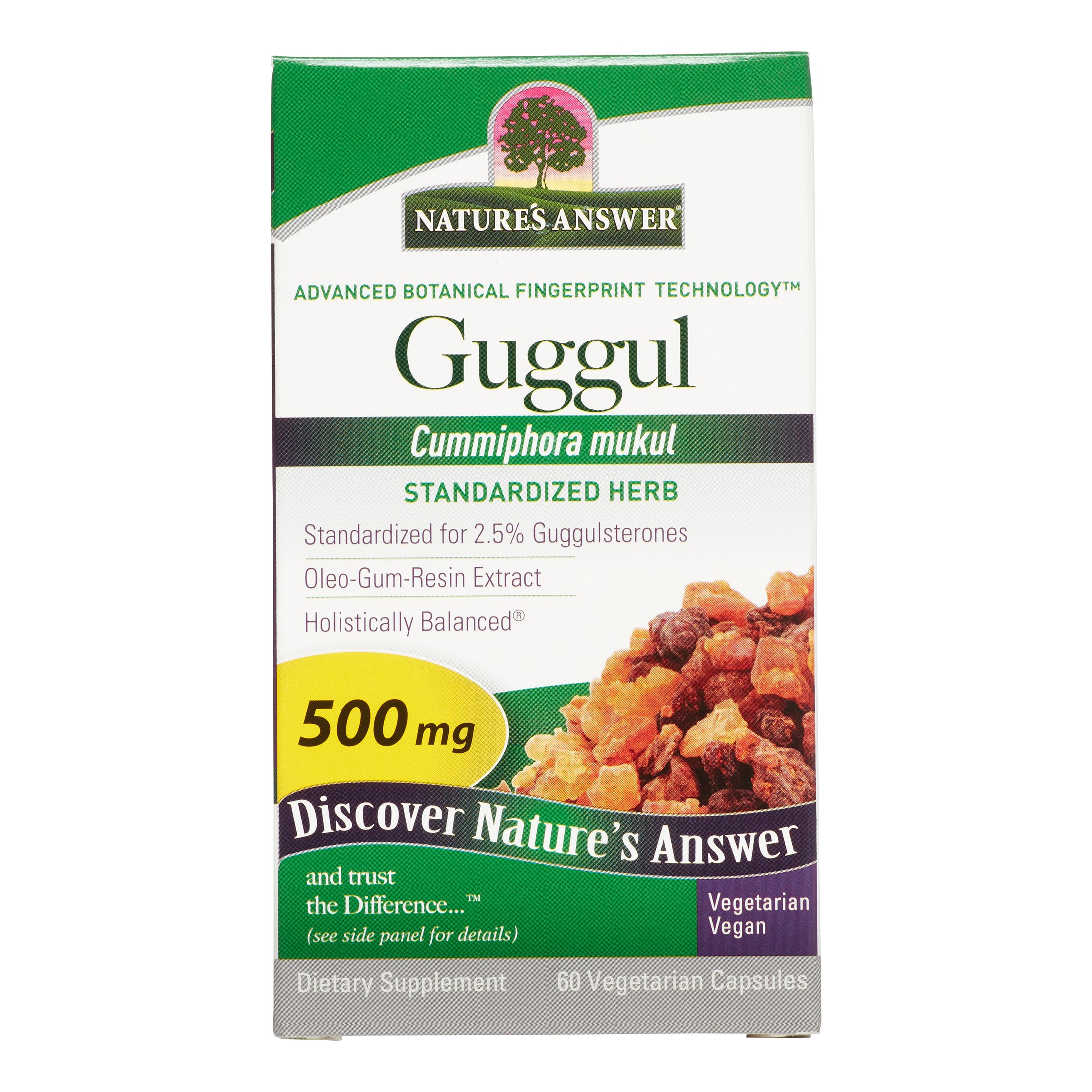Nature's Answer Guggul 500mg Capsules, 60 Ct