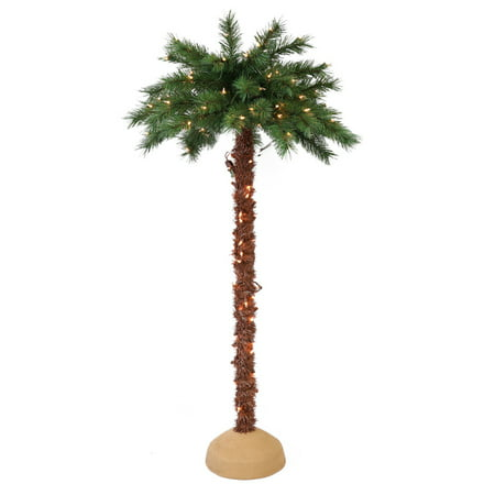 - Puleo International 6 ft. Pre-Lit Artificial Palm Tree with 150 UL-Listed Lights