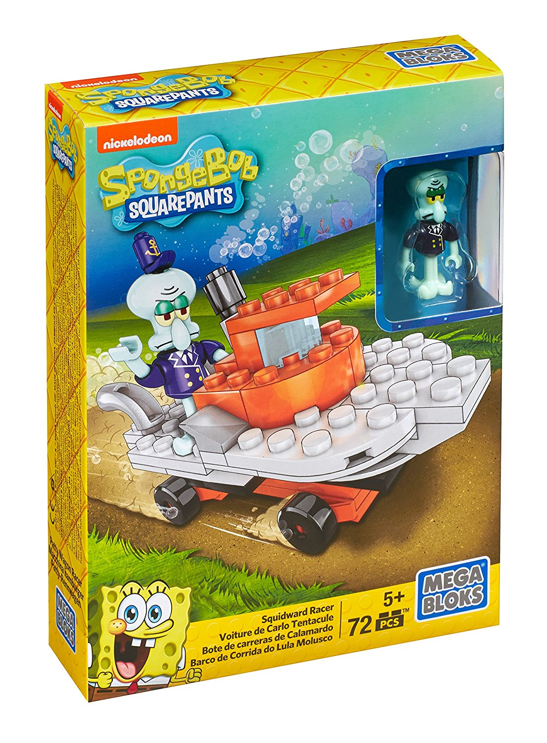 SpongeBob SquarePants Mr. Krabs Racer Playset, One mr. Krabs micro action figure. By Mega Bloks by