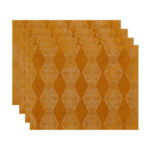 Bungalow Rose Replogle Stripe Geometric Print Placemat (Set of 4)