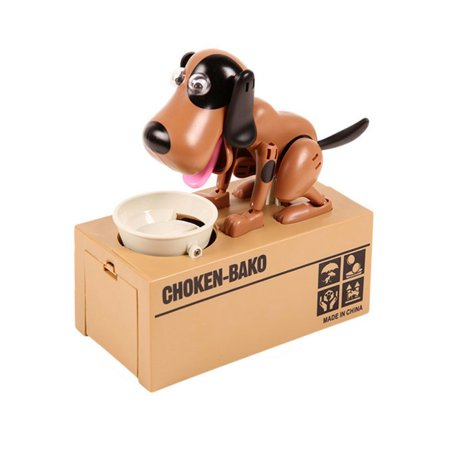 Automated Stealing Hungry Dogs Coins Piggy Bank Coin Saving Box Gift Hot