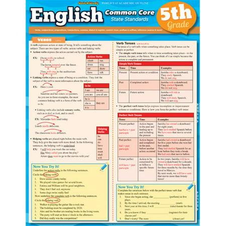 English Common Core 5Th Grade Quickstudy Easel