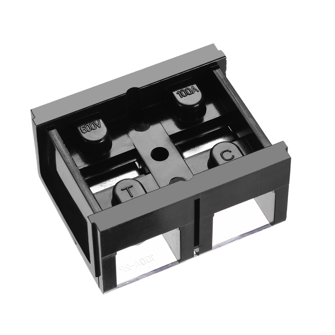 Barrier Terminal Block 600V 100A 2 Positions Dual Rows Screw Terminals 5 Pcs - image 1 of 3