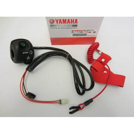 Yamaha New OEM WaveRunner Start Stop Switch Box LH Handlebar w/ Lanyard