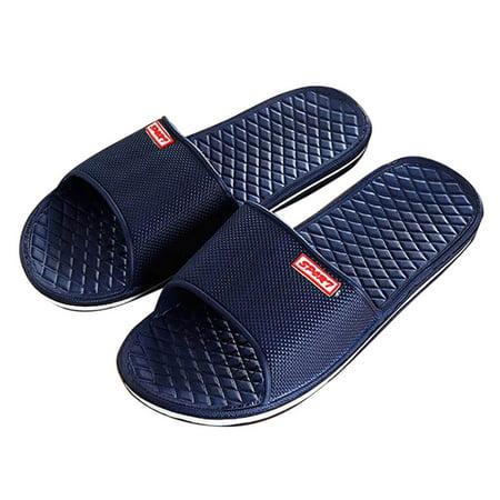 33c2f090c Men Solid Flat Bath Slippers Summer Sandals Indoor & Outdoor Slippers -  Walmart.com