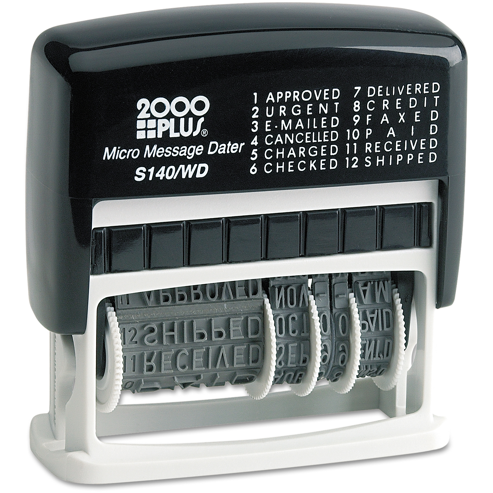 2000 PLUS Micro Message Dater, Self-Inking