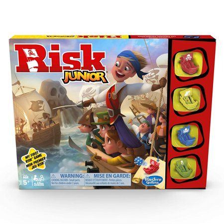 Hasbro Gaming Risk Junior Game: Strategy Board Game; A Kids Intro to The Classic Risk Game for Ages 5 and Up; Pirate Themed Game