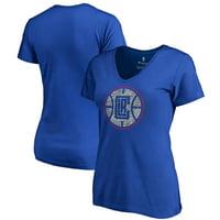 LA Clippers Fanatics Branded Women's Static Logo V-Neck T-Shirt - Royal