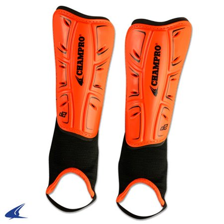 CHAMPRO D2 Soccer Shin Guards Orange Large