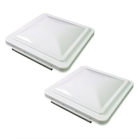 2 pack white 14 x 14 replacement roof vent cover camper rv trailer ventline - Trailer Roof Vent