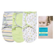 Summer Infant SwaddleMe Cotton 3 Pack with Dr. Spock's Baby and Child Care Book, Bees