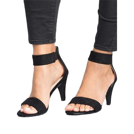 Women Low Kitten Heel Wedge Court Shoes Pumps Work Strappy Sandals