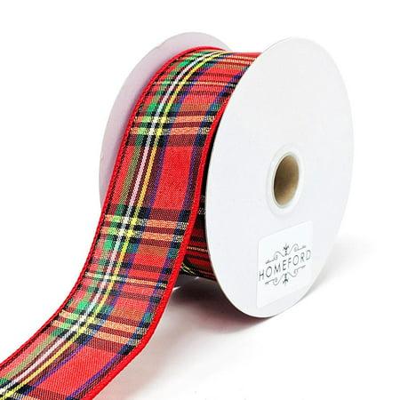 Christmas Tartan Plaid Ribbon, 7/8-Inch, 10-Yard Douglas Tartan Ribbon