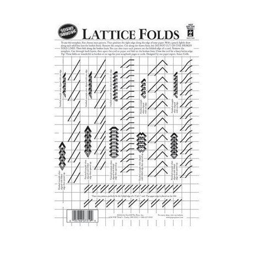 "8.5"" x 12"" Papercrafting Template Lattice Folds"