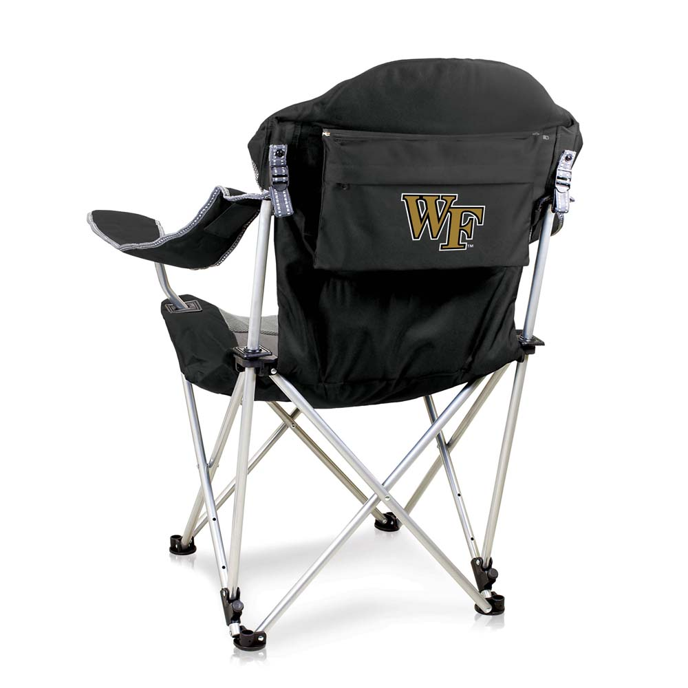 Wake Forest Reclining Camp Chair (Black)