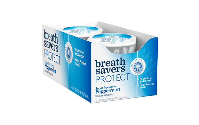 BREATH SAVERS Protect Mints in Peppermint Flavor, .88 oz, 6 Count by Hershey's