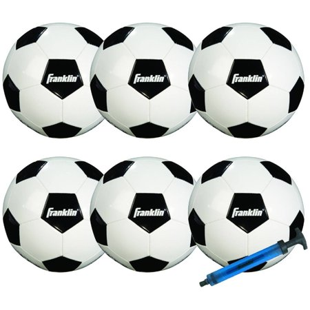 Franklin Sports Comp 100 6-Pack of Soccerballs and (Franklin L'halloween)