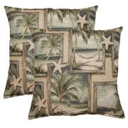 FHT Sandals Sea 17-in Throw Pillows (Set of 2)