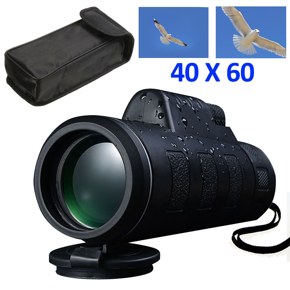 Outdoor Day&Night Vision 40X60 HD Optical Monocular Hunting Hiking Telescope New by