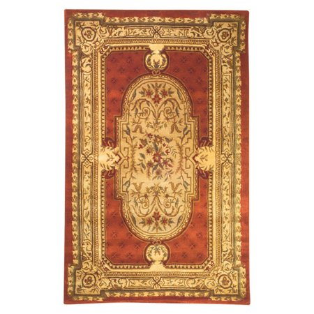 Safavieh Classic Flanagan Floral Bordered Area Rug or Runner (Black And Gold Border)