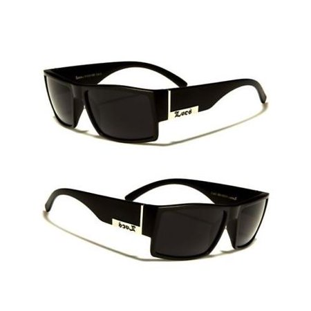 MEN DARK LENS GANGSTER MATTE BLACK OG SUNGLASSES LOCS BIKER (Bikers Glasses)