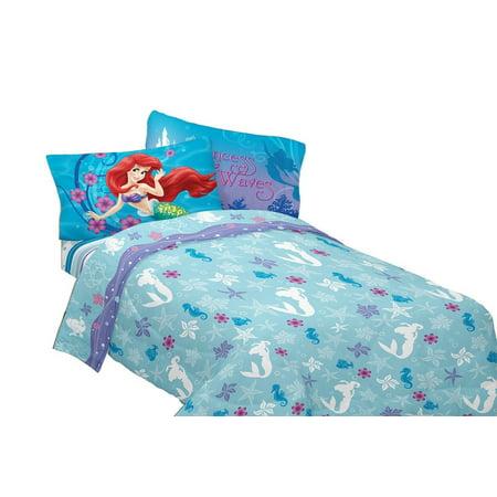 Disneys Little Mermaid Mermaid Princess Twin Sheet Bedding Set