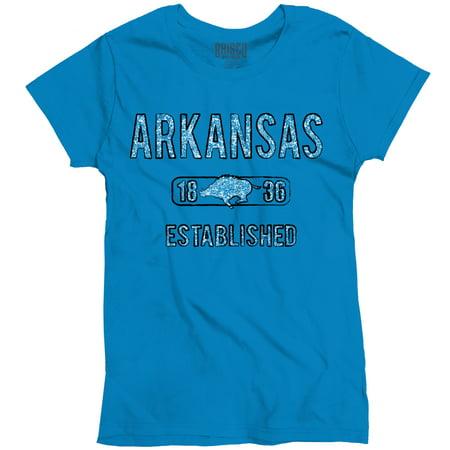 Arkansas State Pride T Shirt State Flag Usa Razorback Gift Ladies T Shirt