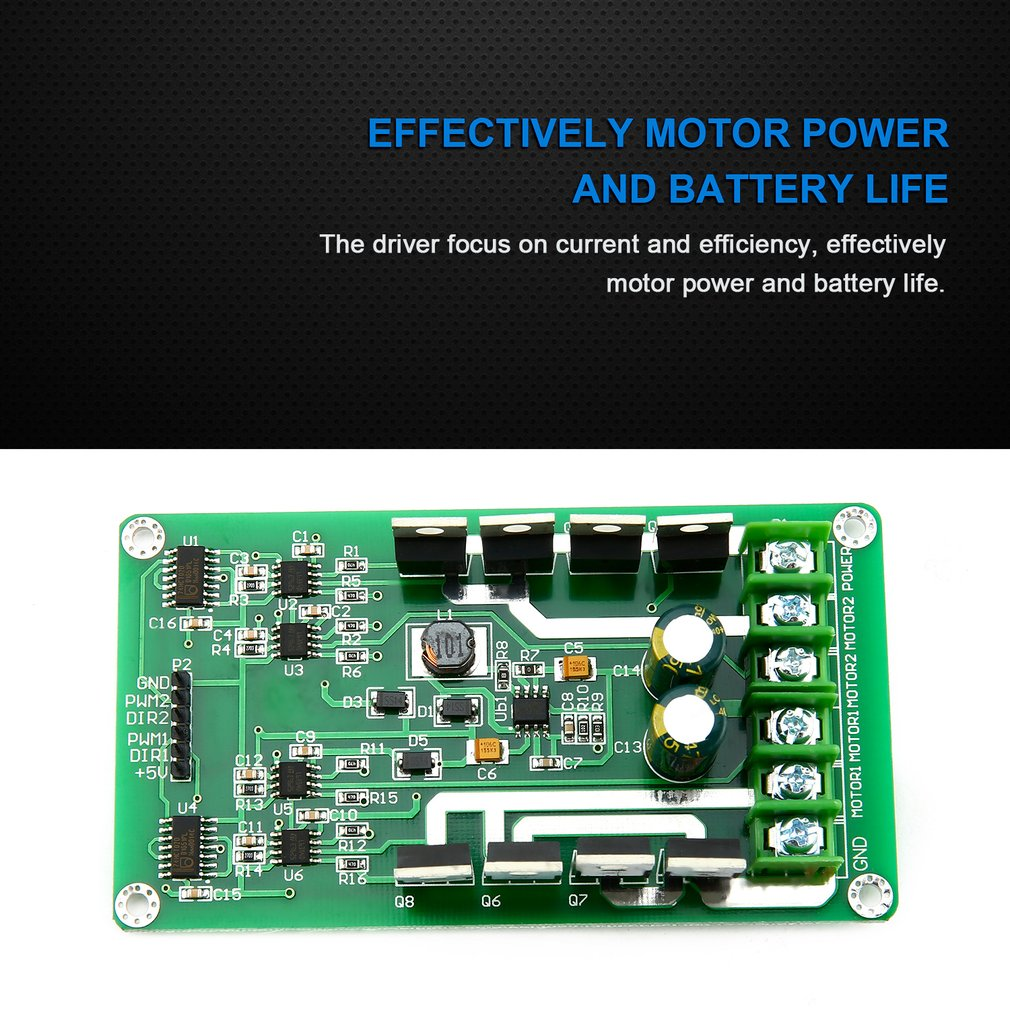 3v 36v Dual Motor Driver Board Module H Bridge Dc Mosfet Irf3205 15a Control With Power Mosfets Peak 30a Speed Controller High
