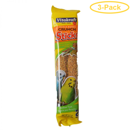 VitaKraft Honey Sticks for Parakeets 2.11 oz (2 Pack) - Pack of