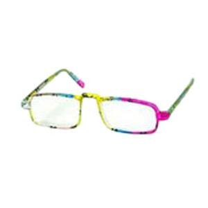 Windmill Half Eye Reading Glass  +3 Power, Multi Color Plastic Frame - 1 (Power Glass For Eye)