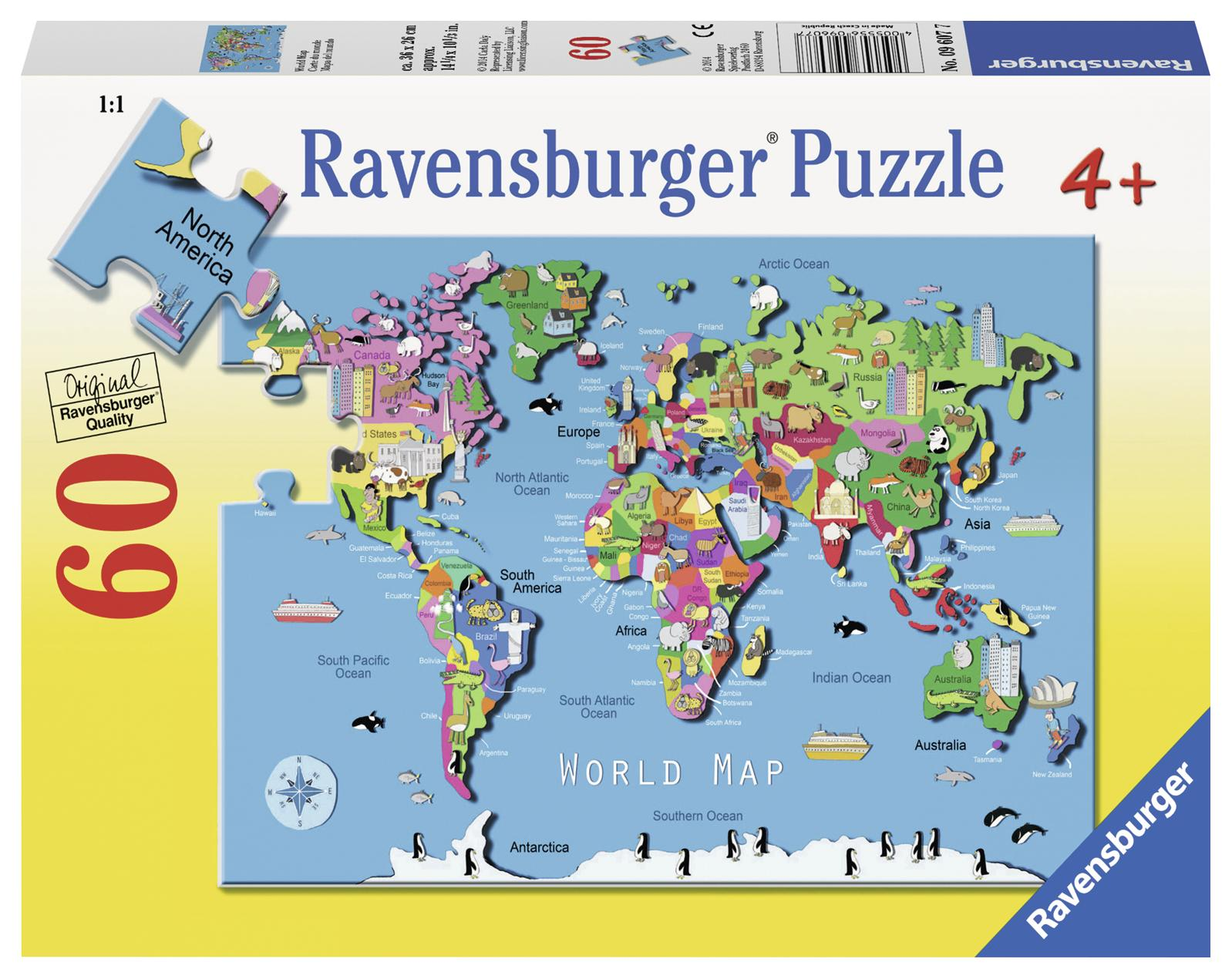 World Map 60 PC Puzzle (Other) by Ravensburger