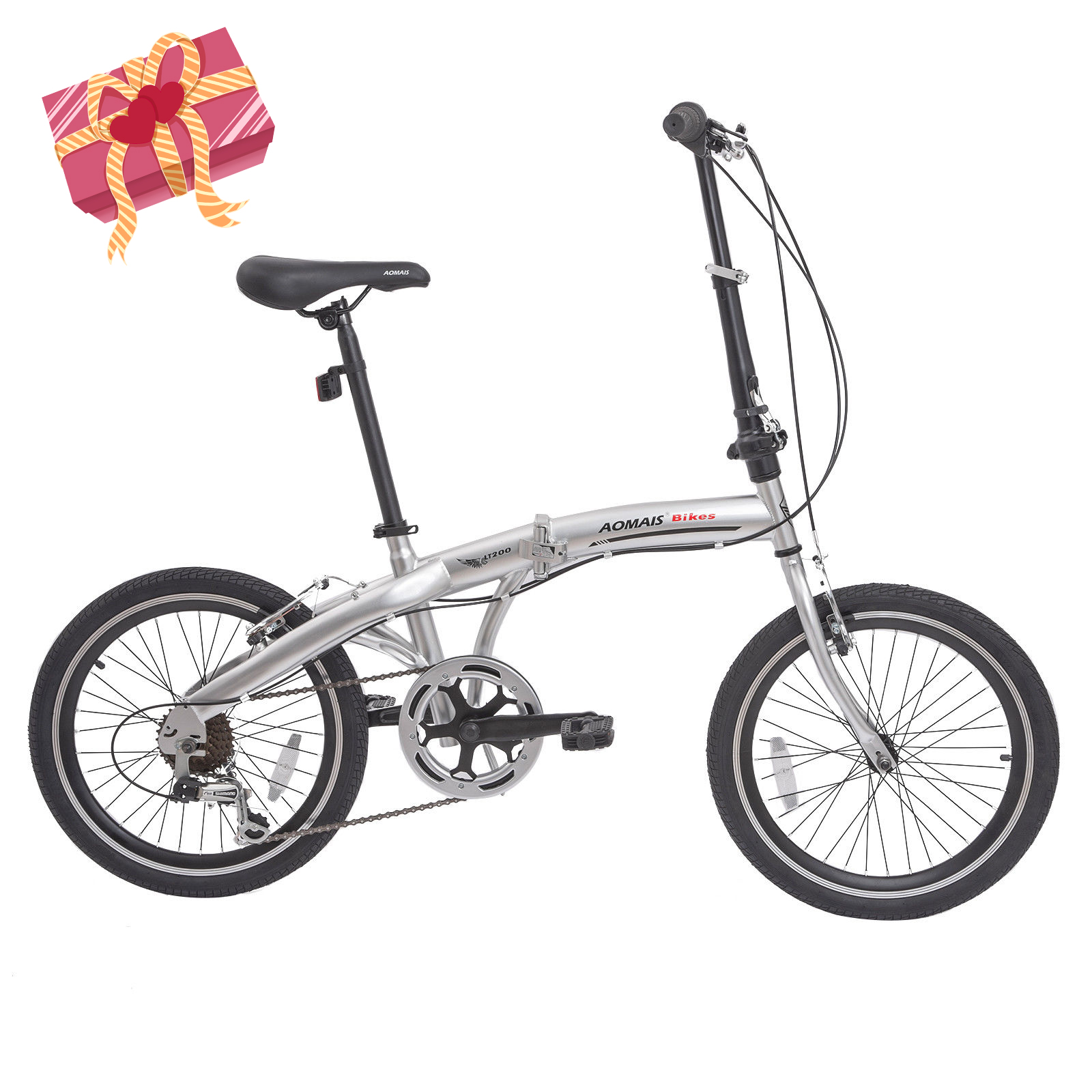 """Murtisol 20"""" 7 Speed folding commuter bicycle foldable bike for adults DISC BRAKE"""