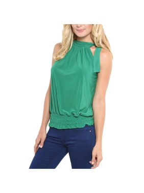 82986b82 Product Image Women Pleated Top Blouse Halter Neck Ruched Sleeveless Hot  Summer Party Plus Size Sexy Casual Shirts. UKAP