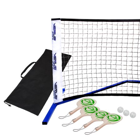 Verus Sports Professional Portable Pickleball Net Set with Paddels and Balls (Schwimmtraining Paddel)