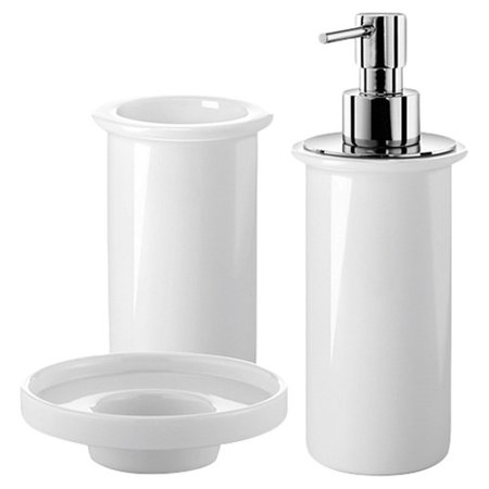 Ws bath collections saon 3 piece bathroom accessory set for Bathroom accessories at walmart