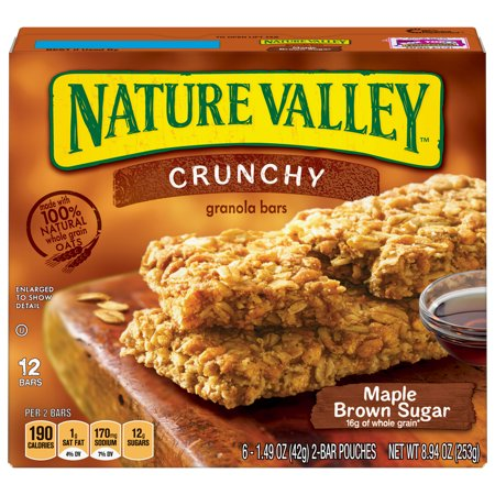 - Nature Valley Crunchy Granola Bar Maple Brown Sugar 12 Bars, 8.94 oz
